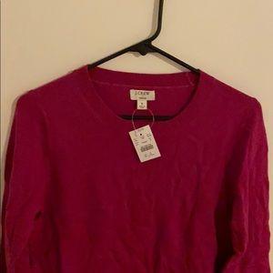 J. Crew pink Teddie sweater NWT